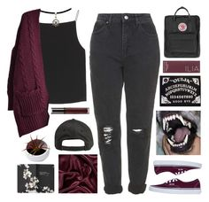 """Untitled #2635"" by tacoxcat ❤ liked on Polyvore featuring Topshop, T By Alexander Wang, Billabong, Vans, Moleskine, Ilia and Fjällräven"