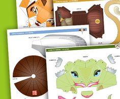 Kung Fu Panda 3-D Paper Characters
