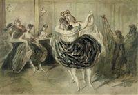 Пара танцующих женщин