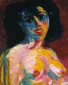 Femme, Emil Nolde - Master of color.