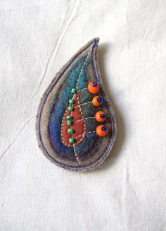 Felt Brooch by MilenaMisheva on Etsy, $20.00