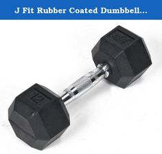 J Fit Rubber Coated Dumbbell 12 lb./. Rubber Dumbbell 12 lb SingleRubber Coated Hex Dumbbells are the perfect solution for sculpting a firm and shapely upper body. Made from solid cast iron with a 6-sided anti-roll design and encased in rubber. Sold as a single. Includes a single dumbbellElastic rubber coating prevents damage to floorsProduct photo may not exactly match the product offered for sale. Please refer to the product description.