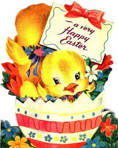 50's Easter card image