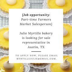 Job Opportunity : Farmers Market Salesperson