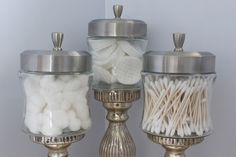 budget decorator - home made apothecary jars and what to put in them