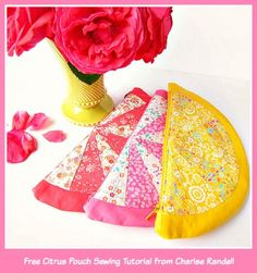 A Free Liberty Citrus Zippered Pouch Sewing Project by Cherise Creates