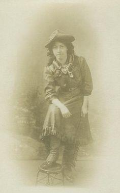 cowgirl circa 1910.