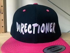 1D+Snap+Back+Hat.++Choose+your+colour+and+customize+by+SnappyD,+$20.00