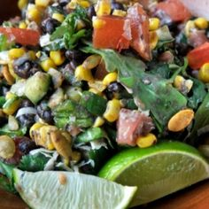 10 crave worthy salads on SB included this Black Bean Corn one from Saint Anejo, Nashville