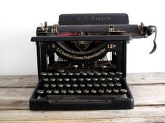 Antique Typewriter  Vintage LC Smith and Corona by SnapshotVintage, $148.00