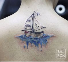Cute sails and heart. Don't like boat or water Boat Tattoos, Ankle Tattoos, Tatoos, S Tattoo, Body Art Tattoos, Sailing Tattoo, Nordic Symbols, Tattoo Samples, Ink Addiction