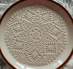 Ecru web doily by fancypansycrafts on Etsy, €4.20
