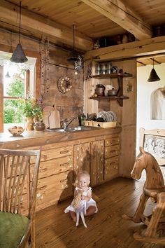 decoracion de interior en cabañas de madera - Google Search