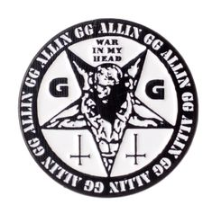 I'm not friendly, don't talk to me. Classic GG Allin War in My Head imagery, now available as an enamel pin. Pretty Shirts, Talk To Me, Patches, War, My Favorite Things, Discount Price, Coupon, Enamel, Wallet