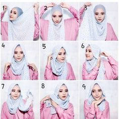 Hijab Tutorial For Summer Beautiful Hijab look with a great coverage using a simple maxi scarf, this style looks loose but in fact it is well wrapped and covering everything, keepreading for the step by step explanation. Take your scarf from its width…B Turkish Hijab Tutorial, Square Hijab Tutorial, Pashmina Hijab Tutorial, Hijab Style Tutorial, Hijab Simple, Hijab Casual, Hijab Outfit, Ootd Hijab, Turban Hijab