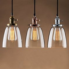 Buyee® Modern Vintage Industrial Edison Glass Shade Loft Coffee Bar Kitchen Hanging Pendant Lamp Light (chrome fixture) Buyee http://www.amazon.co.uk/dp/B014R1QUKQ/ref=cm_sw_r_pi_dp_1Oovwb0WJXM1V