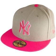 New Era Baycik Fitted Cap NY Yankees khaki