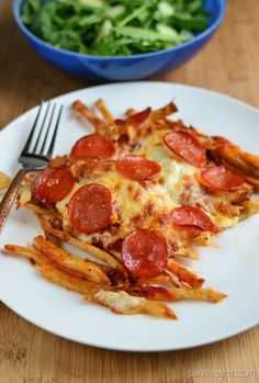 Slimming Eats Pizza Fries - gluten free, Slimming World and Weight Watchers friendly