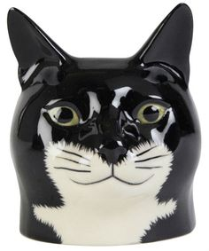 tux cat egg cup by quail