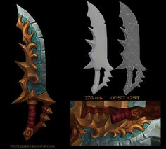 Lowpoly textured dagger