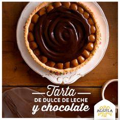 Tarta de dulce de leche y #chocolate