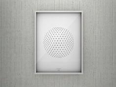 Cuadro Dots World, estilo minimalistas, en blanco y negro.