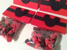 Mickey Mouse Favor Bags bag toppers set of 12 by AlishaKayDesigns on Etsy