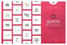 150 Quotes Bundle by AM Studio on @creativemarket