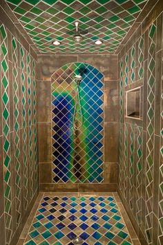 shower tile ideas, shower tile designs, tiling a shower, Islamic bathroom shower tile The latest catalog of shower tile ideas and shower tile designs innovate ideas on how to tile a shower wall, tiling a shower with unique and modern shower tile patterns Shower Tile Patterns, Bathroom Tile Designs, Shower Tiles, Bathroom Ideas, Tile Showers, Small Showers, Bath Tiles, Shower Bathroom, Master Shower