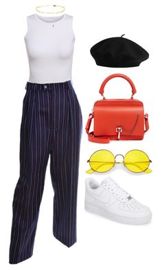 """Untitled #312"" by kryskandidly ❤ liked on Polyvore featuring Yves Saint Laurent, Ray-Ban, NIKE and Carven"