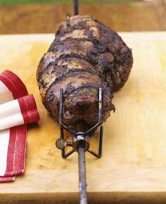 Greek Marinated Rotisserie Leg of Lamb
