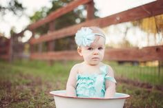 6 month pictures. Crystal Brooke Photography #baby #girl #pictures #babypictures #babyinabowl #babyphotography #sweetgirl #mintlaceromper #babygirl
