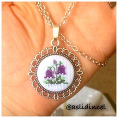This Pin was discovered by İlk Small Cross Stitch, Cross Stitch Designs, Cross Stitch Patterns, Cross Stitching, Cross Stitch Embroidery, Hand Embroidery, Minis, Lavender Bags, Tambour