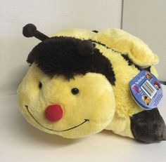 Buzzing Bumble Bee Pillow Pet Yellow and Black Plush Kids Room | eBay