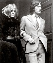 "Mick Jagger & Marianne Faithful were the ""it"" couple. Her long thick hair, parted in the middle, made her a fashion icon."