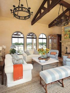 Mediterranean Living-rooms from Betty Lou Phillips on HGTV. I WOULD LOVE THIS FOR A VACATION HOUSE