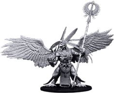 Proteanc, Fickle Lord of Uroboros - Mierce Miniatures, Bird People, Mini Paintings, Toy Soldiers, Lion Sculpture, Lord, Creatures, Statue, Inspiration, War Hammer