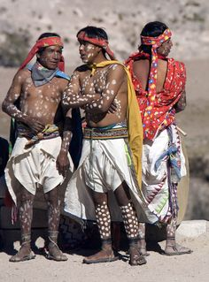 nativefaces:Tarahumara of northern Mexico paint white dots on...