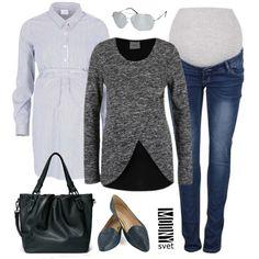 melírovaný tehotenský sveter