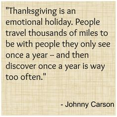 johnny carson thanksgiving quote Funny and Inspiring Thanksgiving Quotes