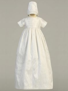 Infant Boys or Girls Heirloom Silk Christening Baptism Gown w  2 Hats Jamie Christening  Gowns 3812ef937be