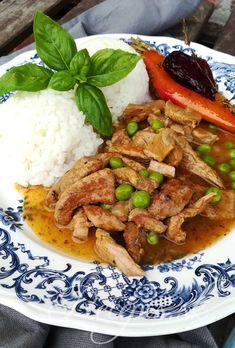 Jemné telacie ragú s hráškom – Recepis. Food And Drink, Beef, Meat, Steak