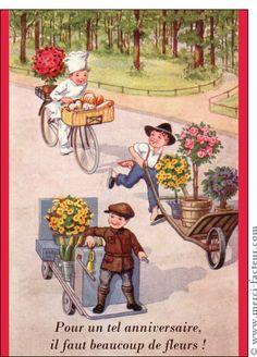 Carte Carte ancienne pour les 60 ans pour envoyer par La Poste, sur Merci-Facteur !