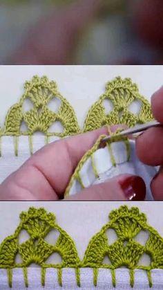 Crochet Edging Patterns, Crochet Lace Edging, Crochet Leaves, Diy Crochet, Crochet Doilies, Crochet Flowers, Crochet Videos, Crochet Projects, Crochet Earrings