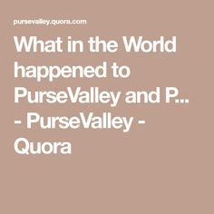 b62e3c6c7666 What in the World happened to PurseValley and P... - PurseValley - Quora