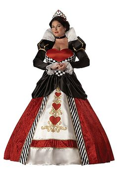 Theatrical Quality - Queen of Hearts Adult Women's Plus Size Halloween Costume / Alice In Wonderland Cosplay Plus Size Adult Halloween Costumes, Plus Size Disney Costumes, Queen Of Hearts Halloween Costume, Red Queen Costume, Plus Size Costume, Theme Halloween, Halloween Fancy Dress, Adult Costumes, Costumes For Women