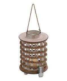 Look what I found on #zulily! Round Rope LED Lantern & Remote Control #zulilyfinds