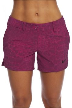 Nike Ladies Shorty Print Golf Shorts - Midnight Navy/White & Lt ...