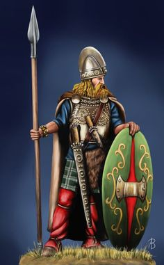 Guerreiro gaulês (Gallic warrior) Plus Gaul Warrior, Irish Warrior, Vikings, Celtic Shield, Grandeur Nature, Celtic Warriors, Fantasy Miniatures, Iron Age, Historical Pictures