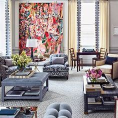 Living Room : Steve Gambrel Imbues A Storied Manhattan Duplex With His Signature Style : Architectural Digest